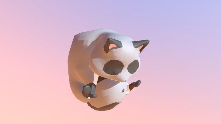 A rolling racoon 3D Model