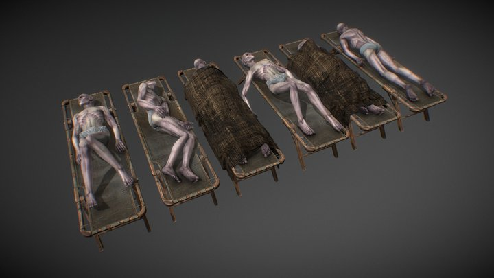 Dead bodies pack 3D Model