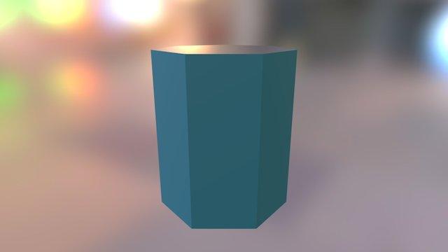 Prisma Heptagonal 3D Model