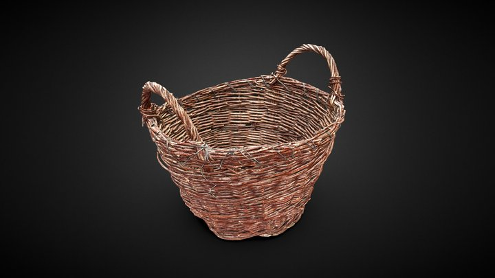 Wicker Basket 3D scan 3D Model