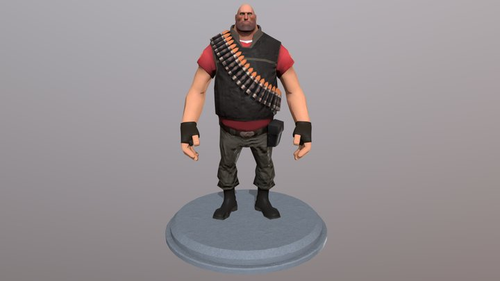 TF2 Heavy 3D Model