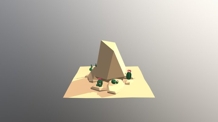 Lowpoly concept area 3D Model