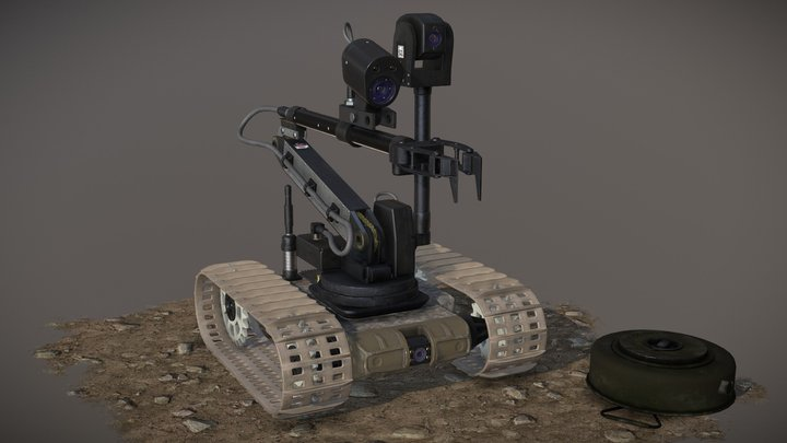 Dragon Runner EOD Robot 3D Model