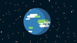 Earth in Blender 2D 3D Model