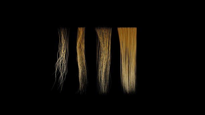 Hair streaks 3D Model