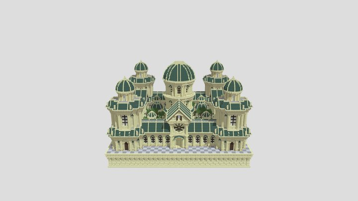 Sandstone Palace Factions Spawn 3D Model