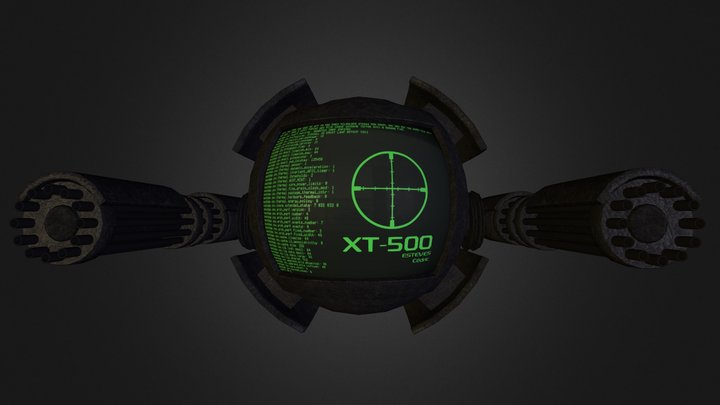 Minigun Drone 3D Model