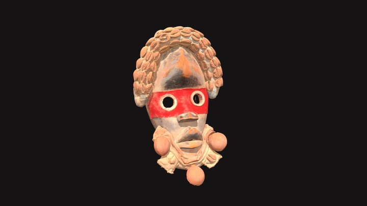 Dan Yakuba People Poro Society Fire Runner Mask 3D Model