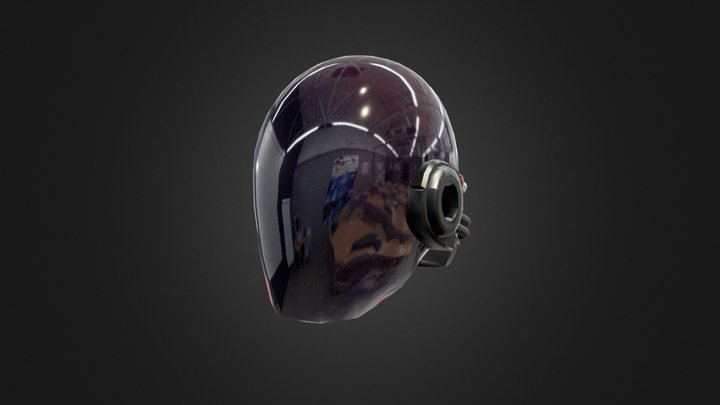 Sci fi Dome Helm 3D Model