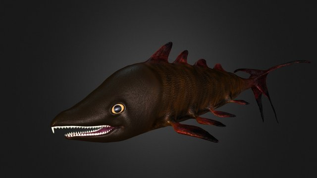 Lava salmon 3D Model
