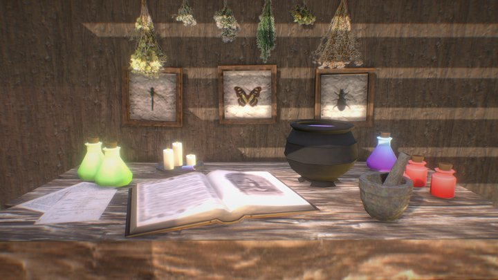 Apothecary Station 3D Model
