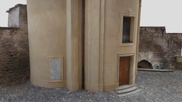 Kolín kostnice exteriér/Kolín ossuary exterior 3D Model
