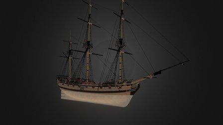 War-Sloop - Tides of War: Letters of Marque 3D Model