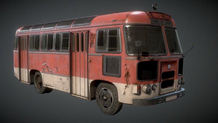 Prison_Bus 3D Model