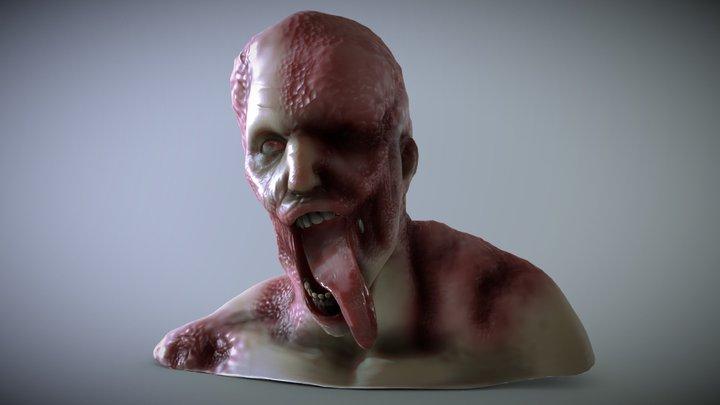 Zombie Bust 2 3D Model