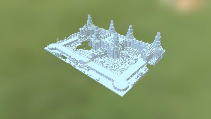 Chambord in Minecraft 3D Model