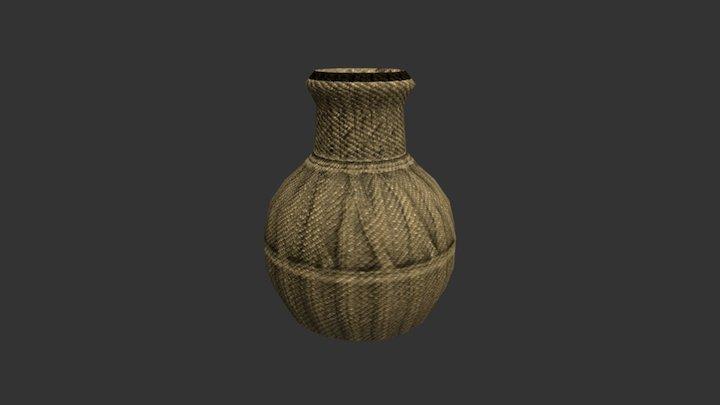 Wicker Basket Open 3D Model