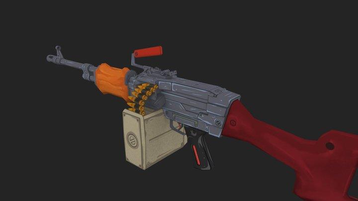 PK Gun 3D Model