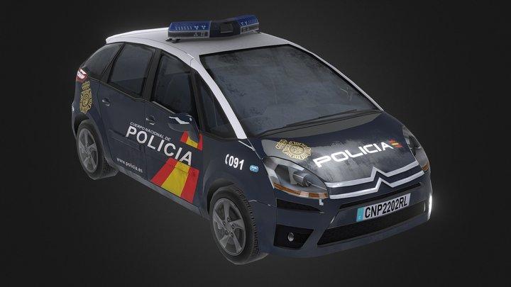 Police Car (Spain) 3D Model