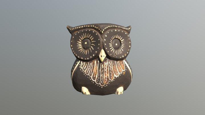 Owl (Сова) - low-poly 3D Model