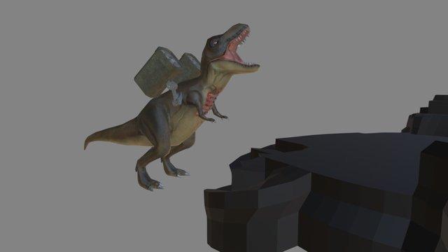 T-Rex Death Animation 3D Model