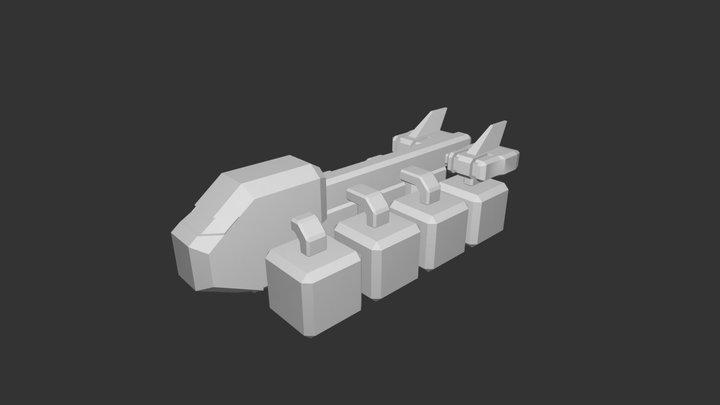 New TS Ship 1 - V1 3D Model