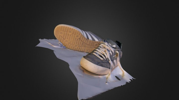 First Attempt - Adidas Samba 3D Model