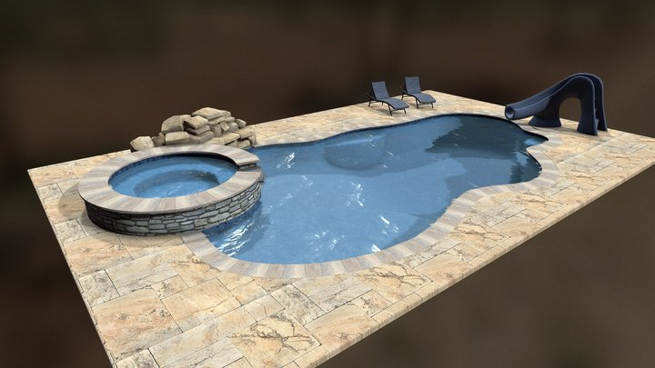 Dream Pool: Oasis - Annotated 3D Model
