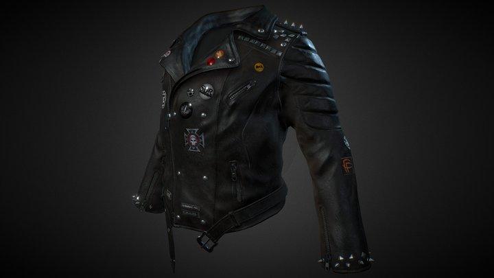 Rock Jacket (mid-poly) 3D Model