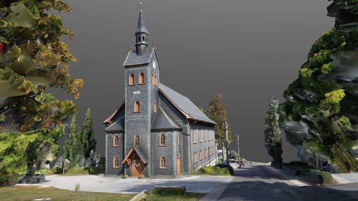 Holzkirche in Neuhaus am Rennweg, Thüringen 3D Model