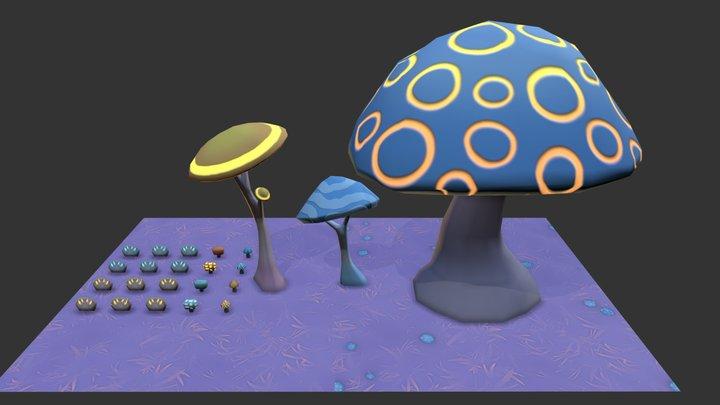 Clic - Mushrooms 3D Model