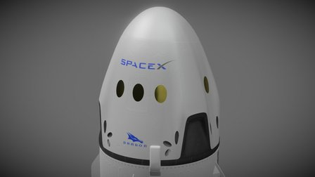 SpaceX Dragon 2 exterior 3D Model