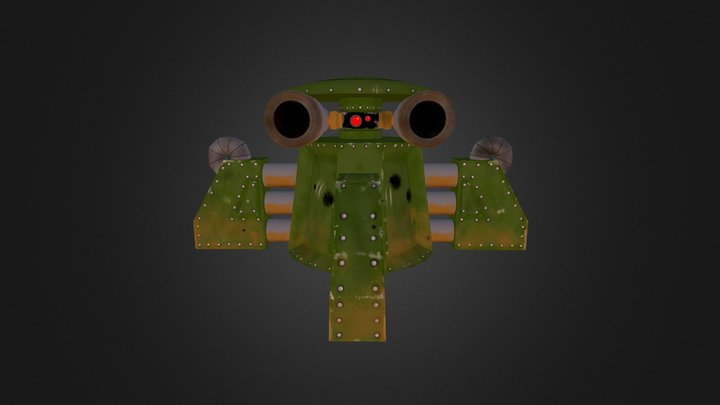 Hertz Like Hell: Automated Turret 3D Model