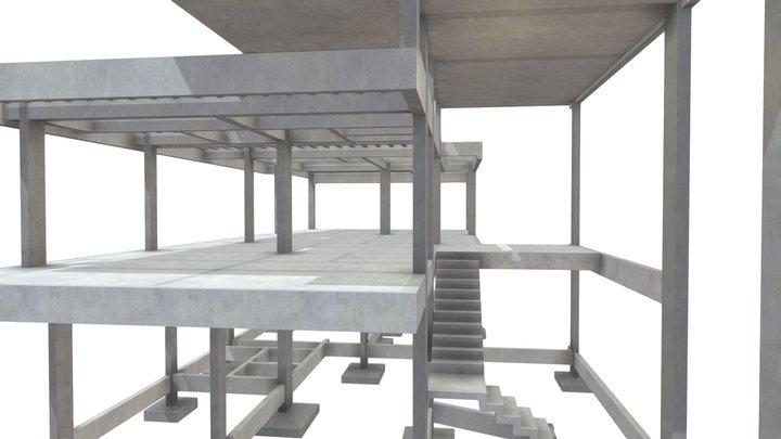 Projeto Estrutural Residencial 08 3D Model