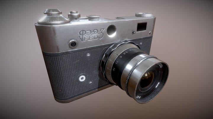 Soviet Vintage Camera FED3 3D Model