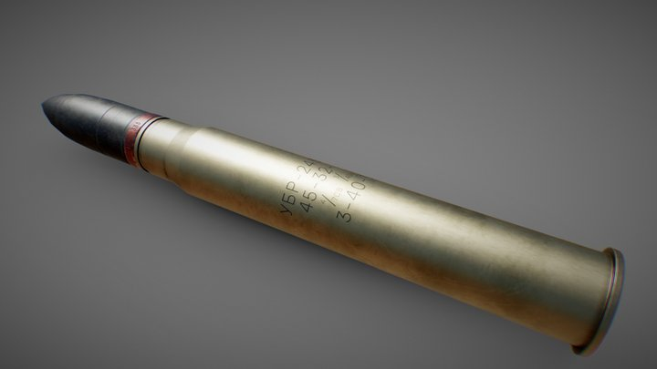 Russian 45mm shell 3D Model