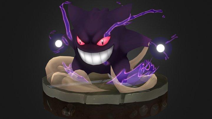 Gengar Pokemon 3D Model