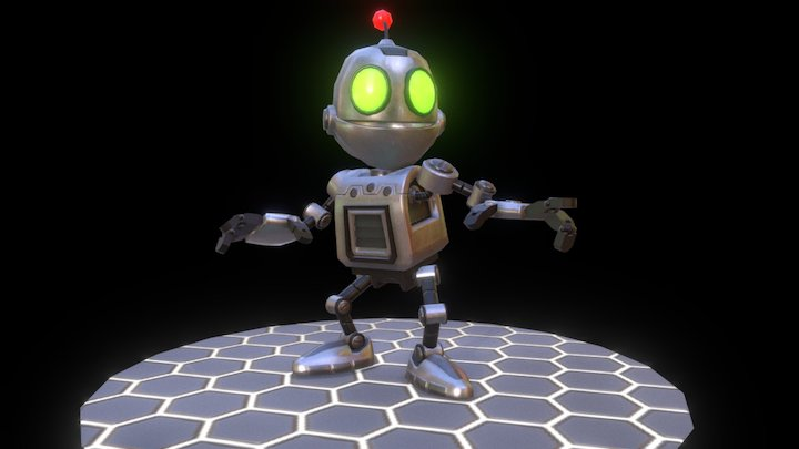 Clank (Low Poly) 3D Model