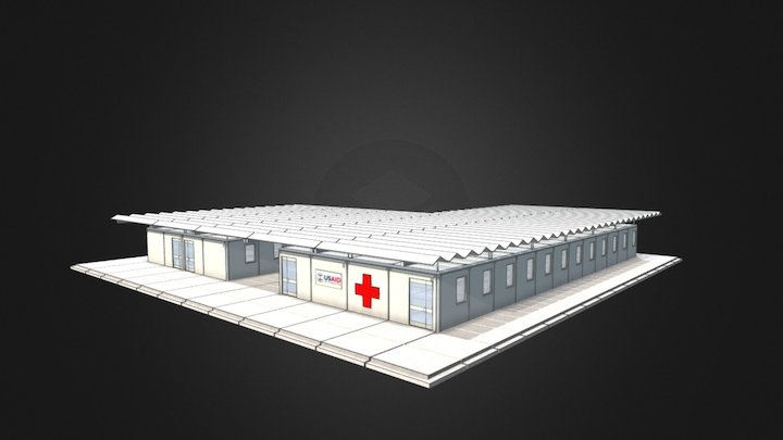 USAID EBOLA CLINIC ETU 3D Model
