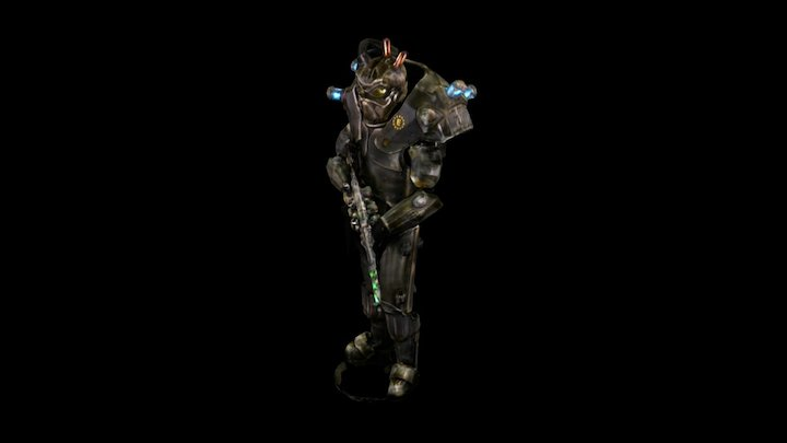 Fallout Enclave Power Armor 3D Model