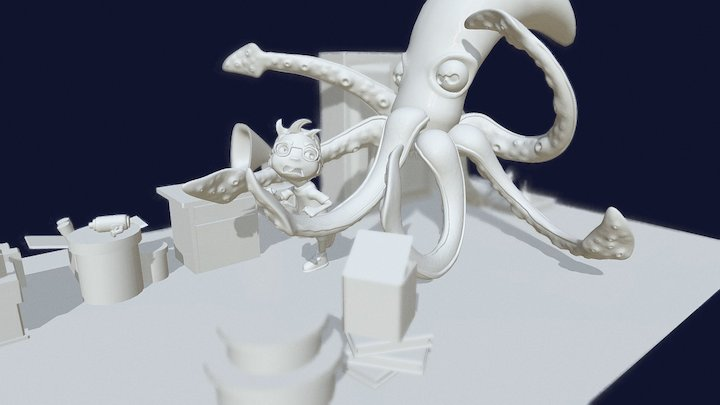 Céphaipiaigé by Adrien Magin (It's a Trap !) 3D Model