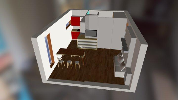 q-box 2 interior 1 3D Model