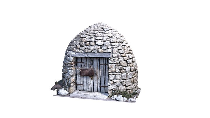 Stone Hut - Mediterranean Biome - Eden Project 3D Model