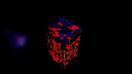 Sci Cube 3D Model