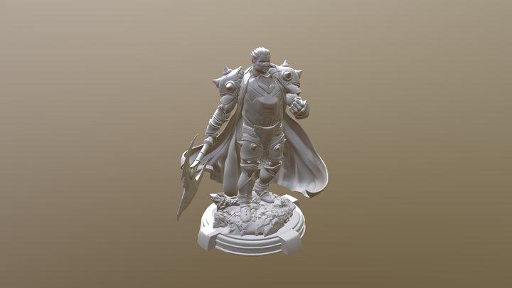 League of Legends Darius statue 3D Model