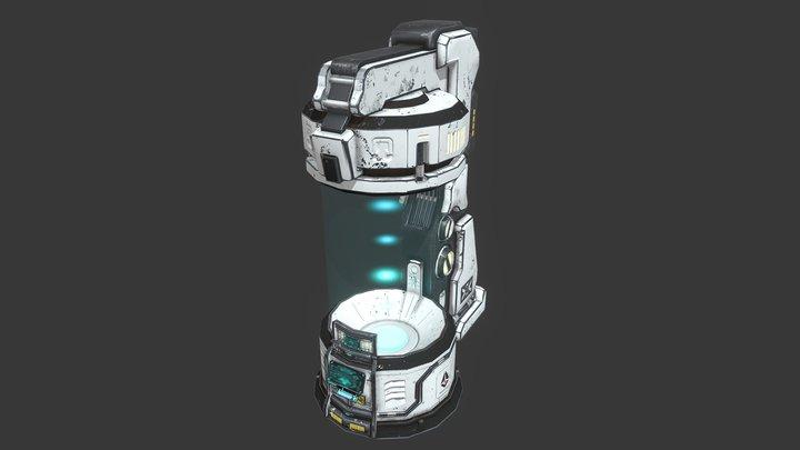 Sci-Fi Capsule 3D Model