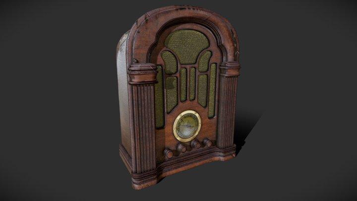 abandoned vintage radio 3D Model