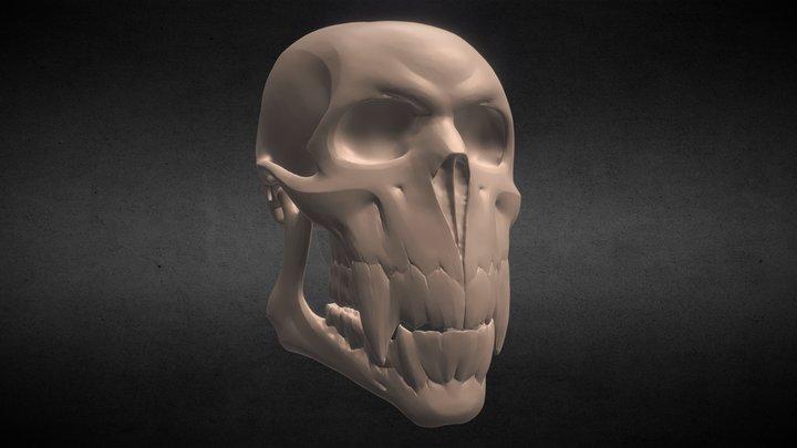 Wild Skull 3D Model