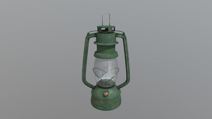 Lamp Kerosene Old 5 3D Model