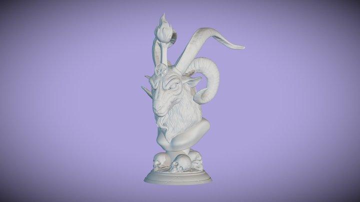 3D Printable Baphomet Bust 3D Model